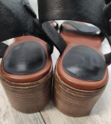 KICKERS sandale blok peta, uklj.Tisak