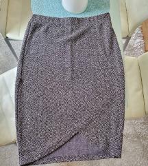 Siva uska suknja do koljena