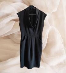 Zara poslovna crna haljina vel M