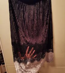 Zara suknja ispod koljena s čipkom