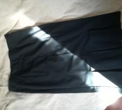 Crna sisley suknja ravna