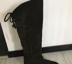 Flair ravne, visoke čizme od gamoša, tamno sive