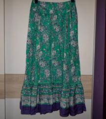 MANGO divna maxi suknja od svile vel.38/40