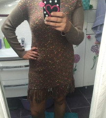 Tunika haljina vunena na rese novo sniženo