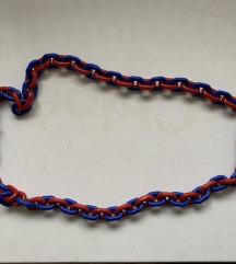 Plavo crvena ogrlica