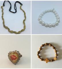 LOT nakita (prstenje, narukvice, ukras za kosu)