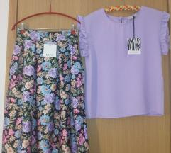 Komplet lila suknja i bluza