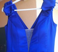 Duga svečana plava haljina