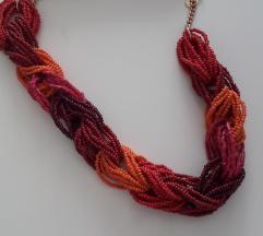 Pletena ogrlica..Novo!!
