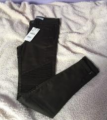 Zara maslinaste army skinny traperice hlače S 36