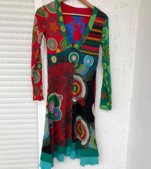 DESIGUAL šarena midi pamučna haljina