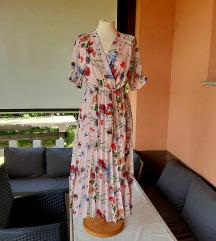 Cvjetna, plisirana haljina, vel. S-M