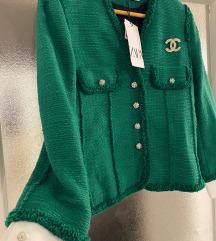 Zara emerald sako od tvida - novo!