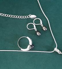 Ogrlica, nausnice i prsten Lbvyr
