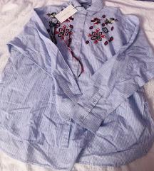 Zara prugasta boho košulja oversized XS