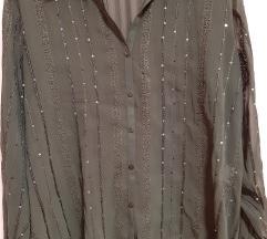 Prozirna bluza s detaljima xl