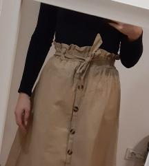 Bež suknja