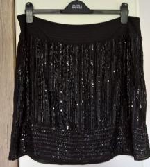 NOVA Mango Violeta sequin suknja, UK 14