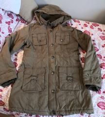 AKCIJA Maslinasta zimska jakna M/L