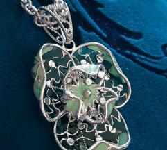 Srebrna ogrlica/lancic sa privjeskom 925