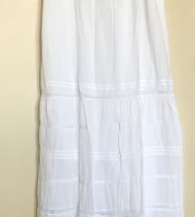Maxi pamucna haljina bijela