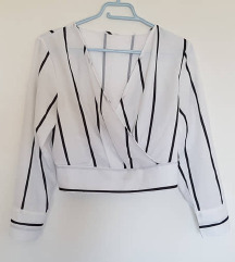 svečana prugasta bluza M