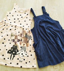 Set haljina H&m122/128(6-8) i Reserved(128)