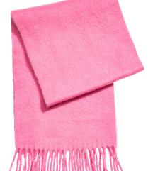 H&m masivan pink šal NOVO
