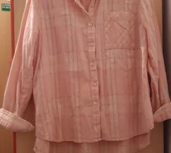 Zara denim svijelo roza kosulja XS/S