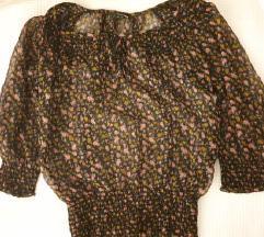 Prozirna cvjetna bluza