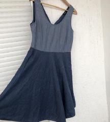 MAX&CO denim jeans plava haljina bez rukava