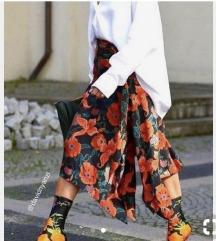 ZARA floral crvena suknja vel S