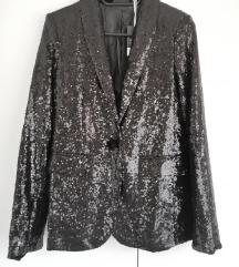 Crni sako sa šljokicama