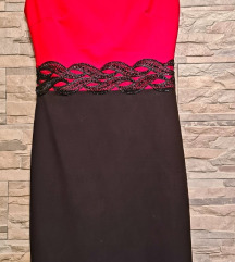 Crno crvena haljina