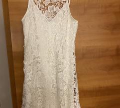 Zara bijela cipkana haljina