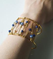 SNIŽENO - Narukvica s lapis lazulijem i sodalitom
