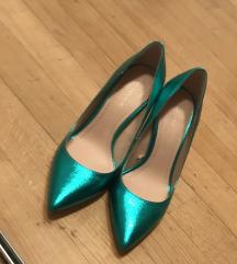 Zara štikle smaragdno zelene 37