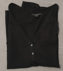 Prozirna crna bluza