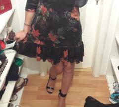 Baršunasta cvjetna haljina