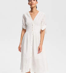 NOVA ljetna, bijela čipkasta haljina