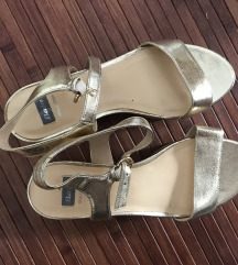 Kozne Bata wedge sandale 39