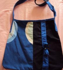 lijepa unikat plava platnena torba