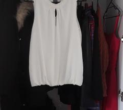 NOVA bijela bluza bez rukava