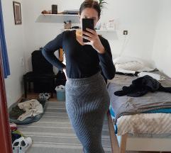 Platnena midi haljina