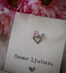 Prozirna ogrlica 4 privjeska 🥰