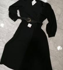Zara midi crna haljina
