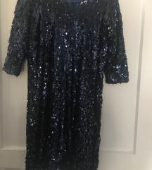 Crna haljina sa šljokicama