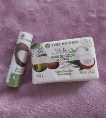 set sapun + balzam za usne coco novo