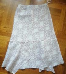Sisley lanena midi suknja