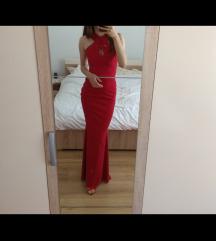 Svečana crvena mat haljina